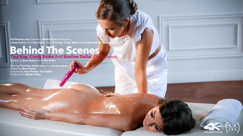 Behind The Scenes: Tina Kay, Cindy Shine & Eveline Dellai On Location - Viv Thomas