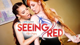 Seeing Red:  Office Hazing - Girlsway