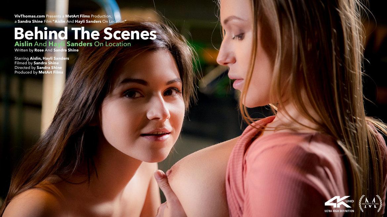 Behind The Scenes: Aislin & Hayli Sanders On Location - Viv Thomas