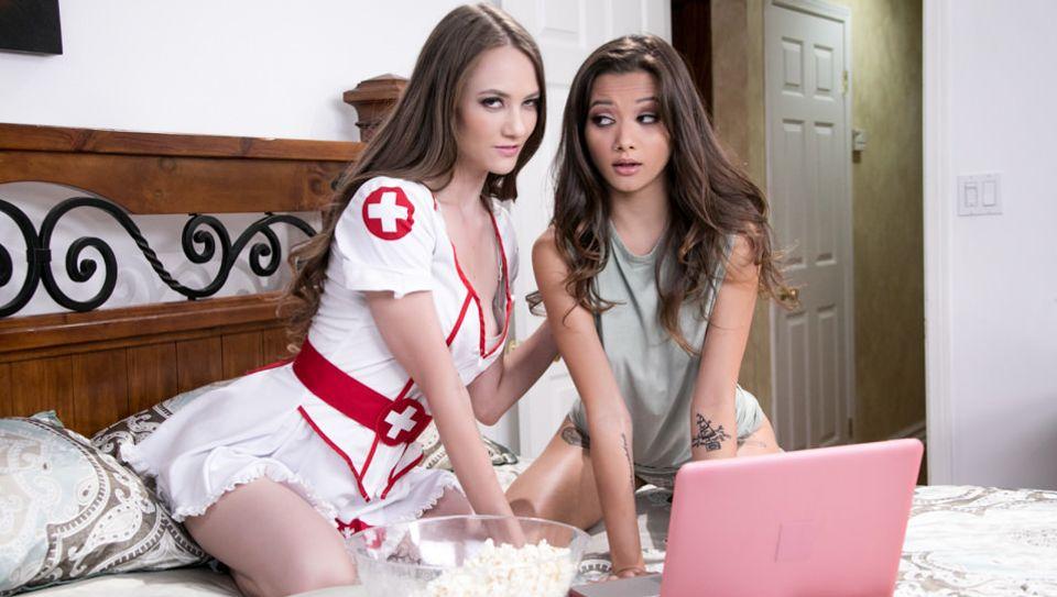 Scary Movie Night, Scene #01 - Girlsway